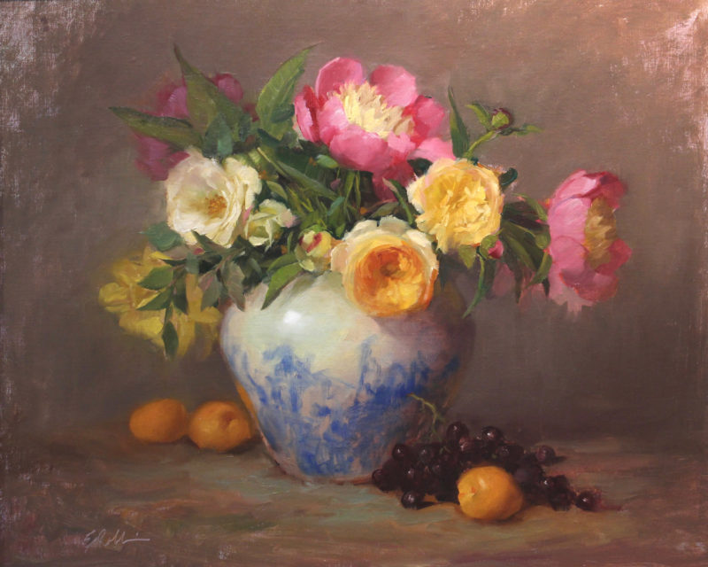 Still Life Painting with Roses