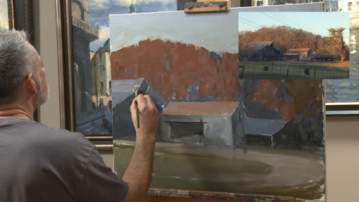 Roger Dale Brown Harmonzing Rural structures in the painted landscape