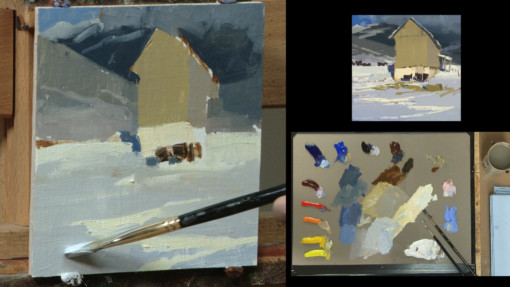 David Dibble painting studies