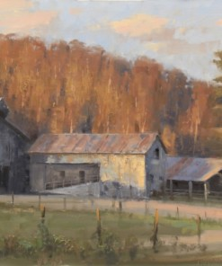 Roger Dale Brown Harmonizing the Rural Structures in the Painted Landscape