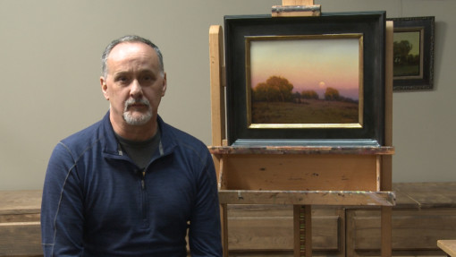 Kevin Courter oil painting luminous Landscapes