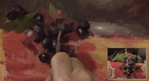 Elizabeth Robbins oil painting grapes