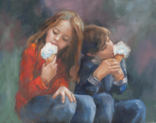 Susan Blackwood oil paintings children