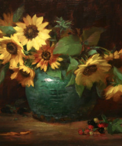 Elizabeth Robbins sunflowers and Jade